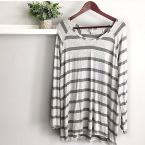 NEW CAbi Striped Long Sleeve Tee Style #940
